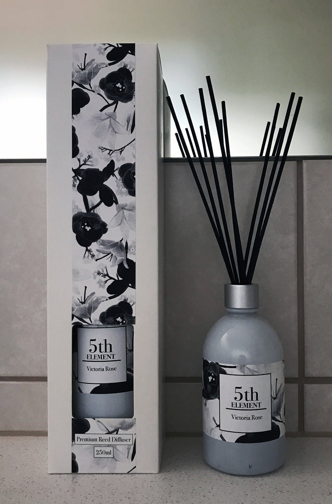 5th Element Melbourne 250ml Reed Diffuser - Victoria  Rose