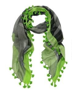 Dlux Edge Handloom Cotton Wrap Scarf - Black