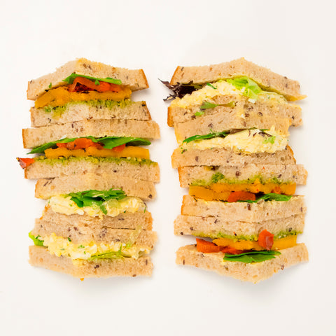 Healthy Triangle Sandwiches - Wholesome Works