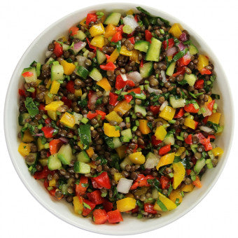 Salad - Puy Lentils with Bell Peppers - Wholesome Works