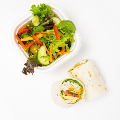 Gluten Free Wrap and Salad - Wholesome Works