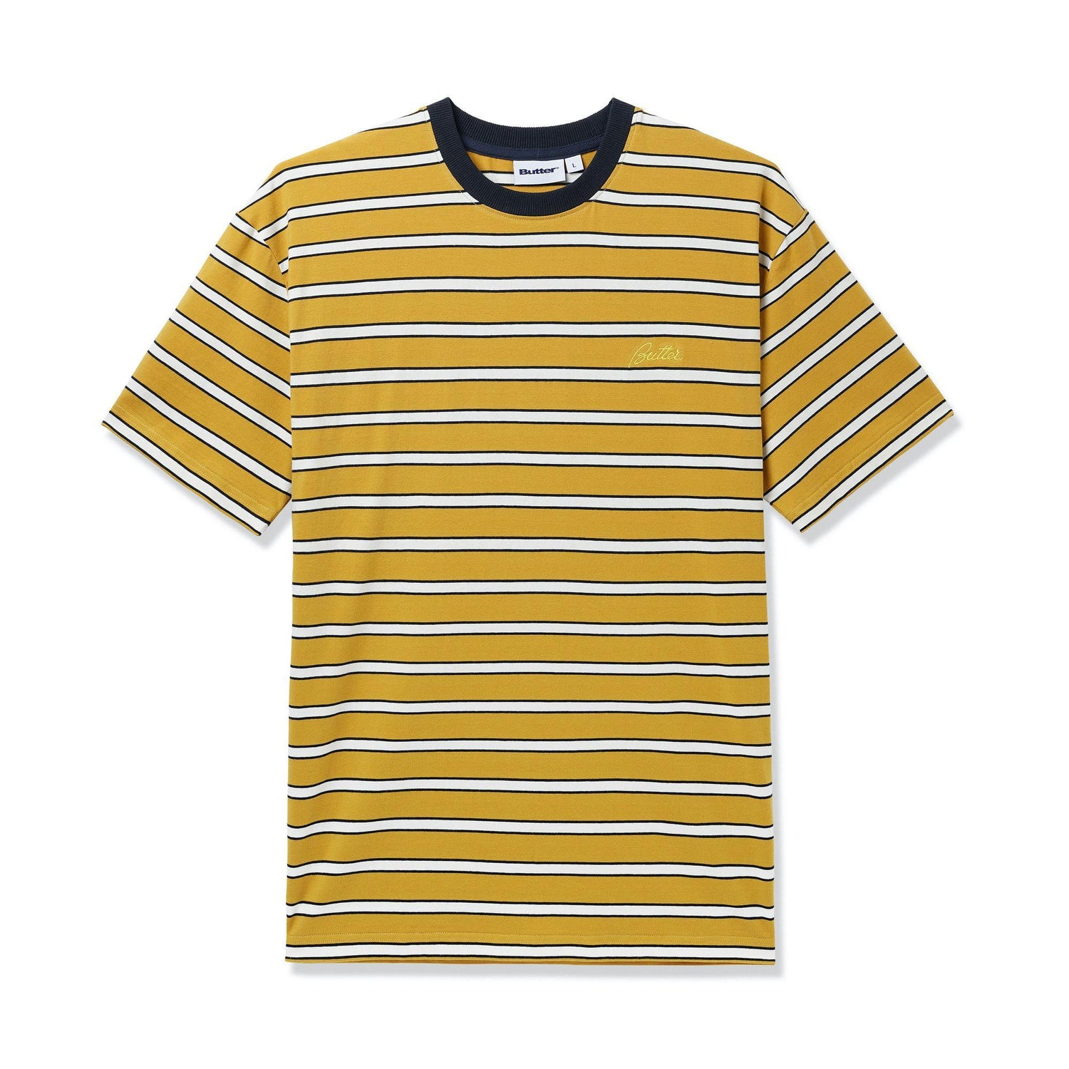 Beach Stripe Tee, Mustard