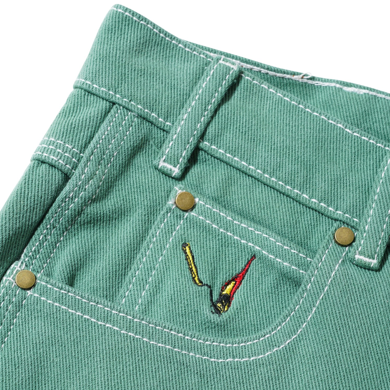 Overdye Denim Work Pants, Alpine