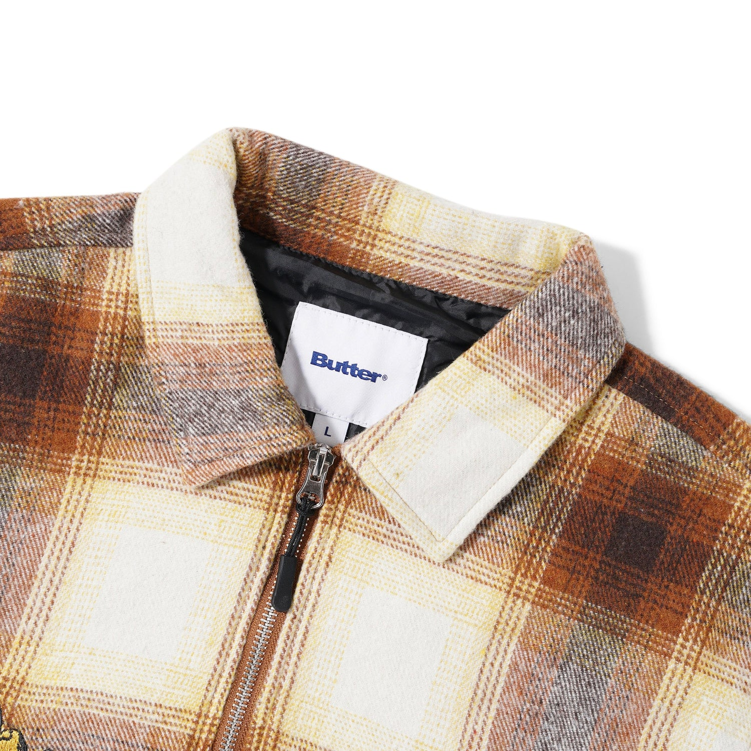 Angels Heavyweight Plaid Overshirt, Brown / Taupe