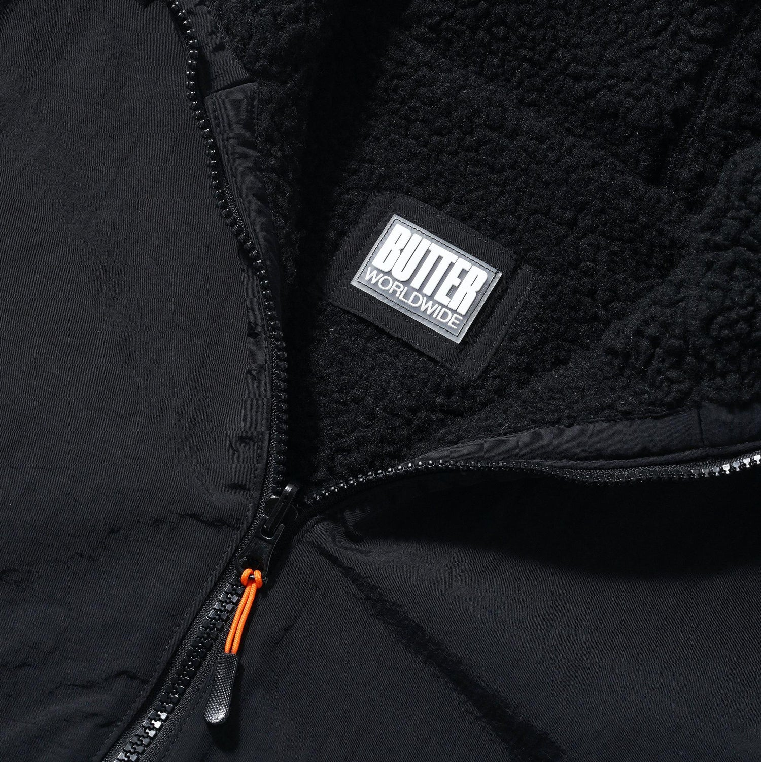 Base Camp Reversible Sherpa Jacket, Black / Black