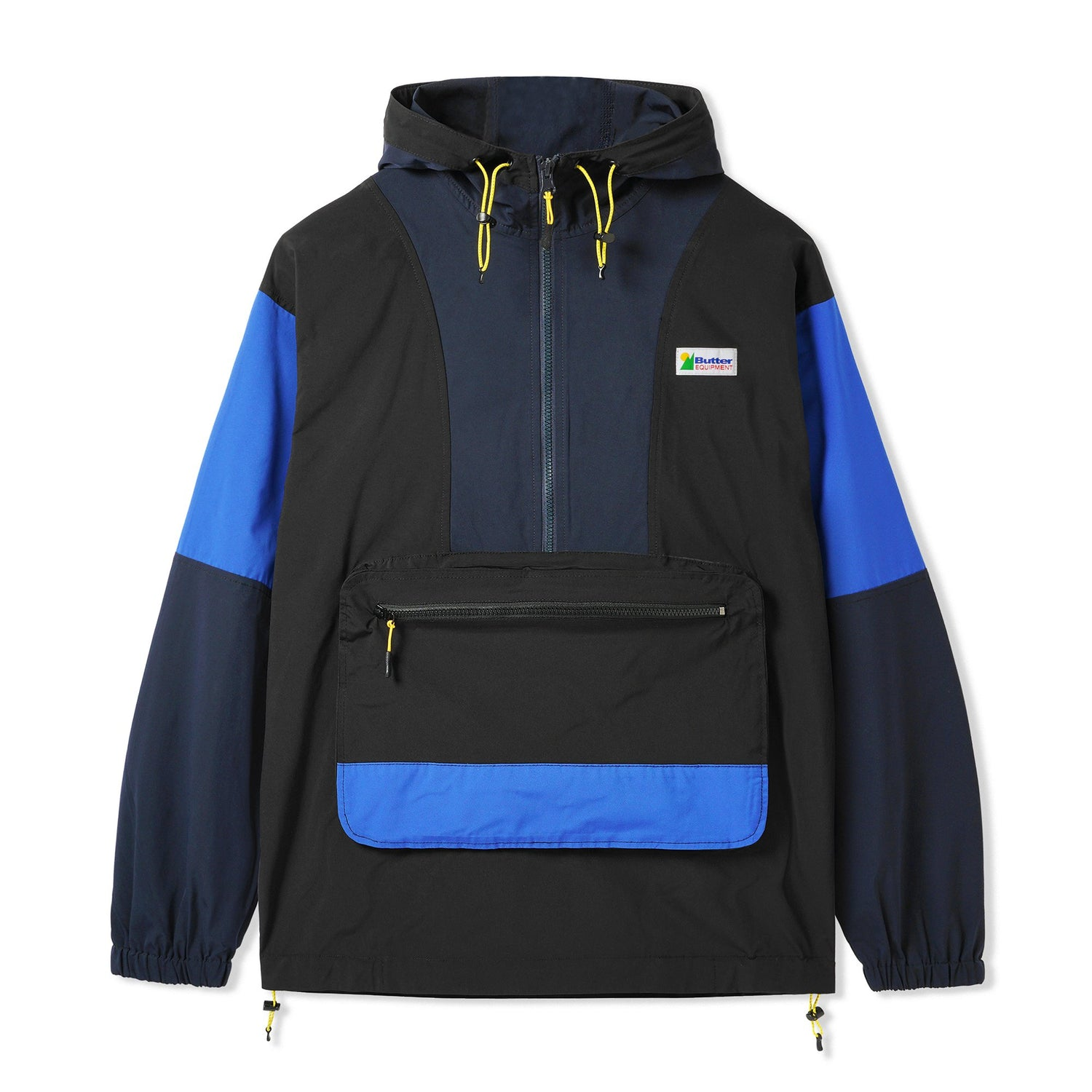Equipment Pullover Jacket, Black / Navy / Royal