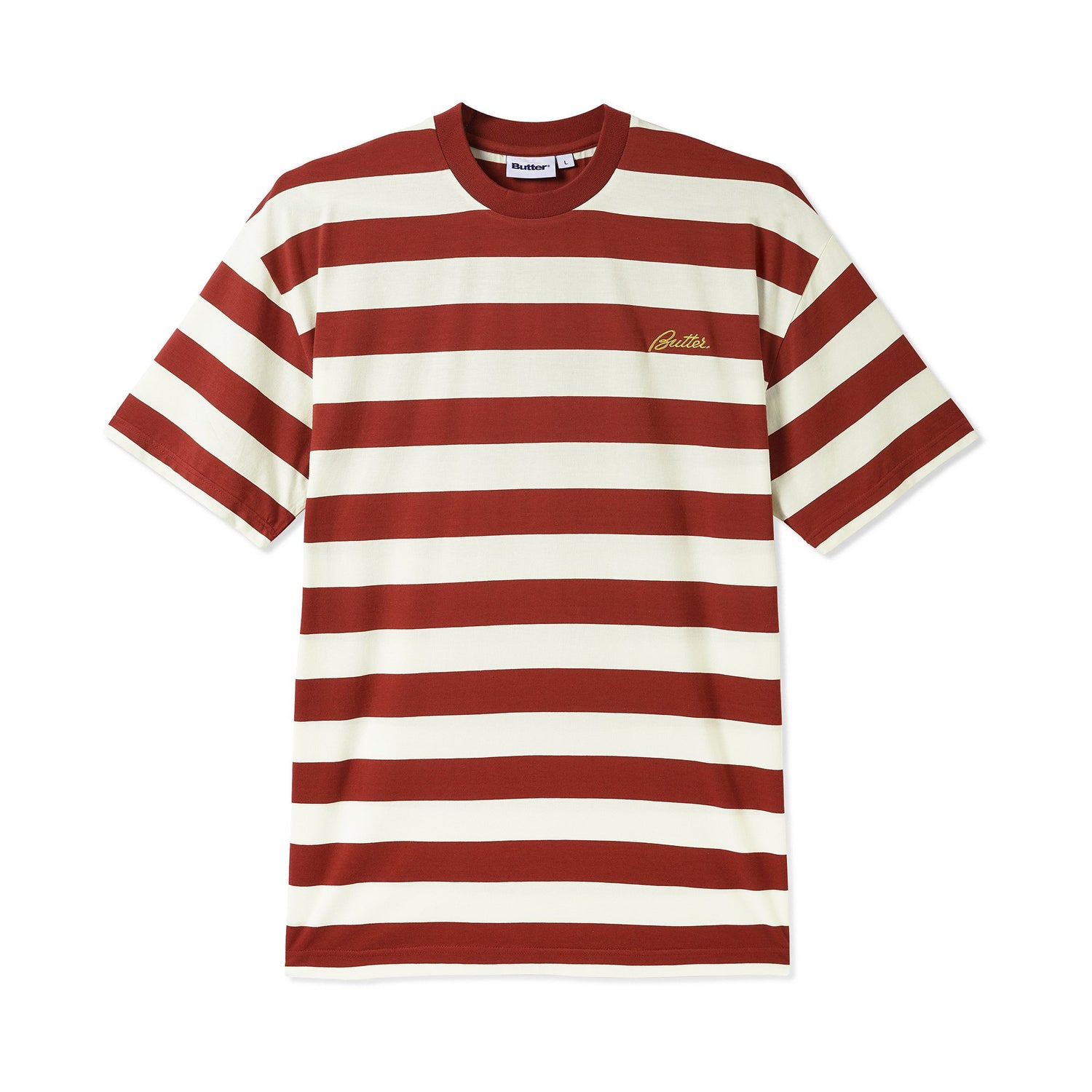 Grove Stripe Tee, Rust
