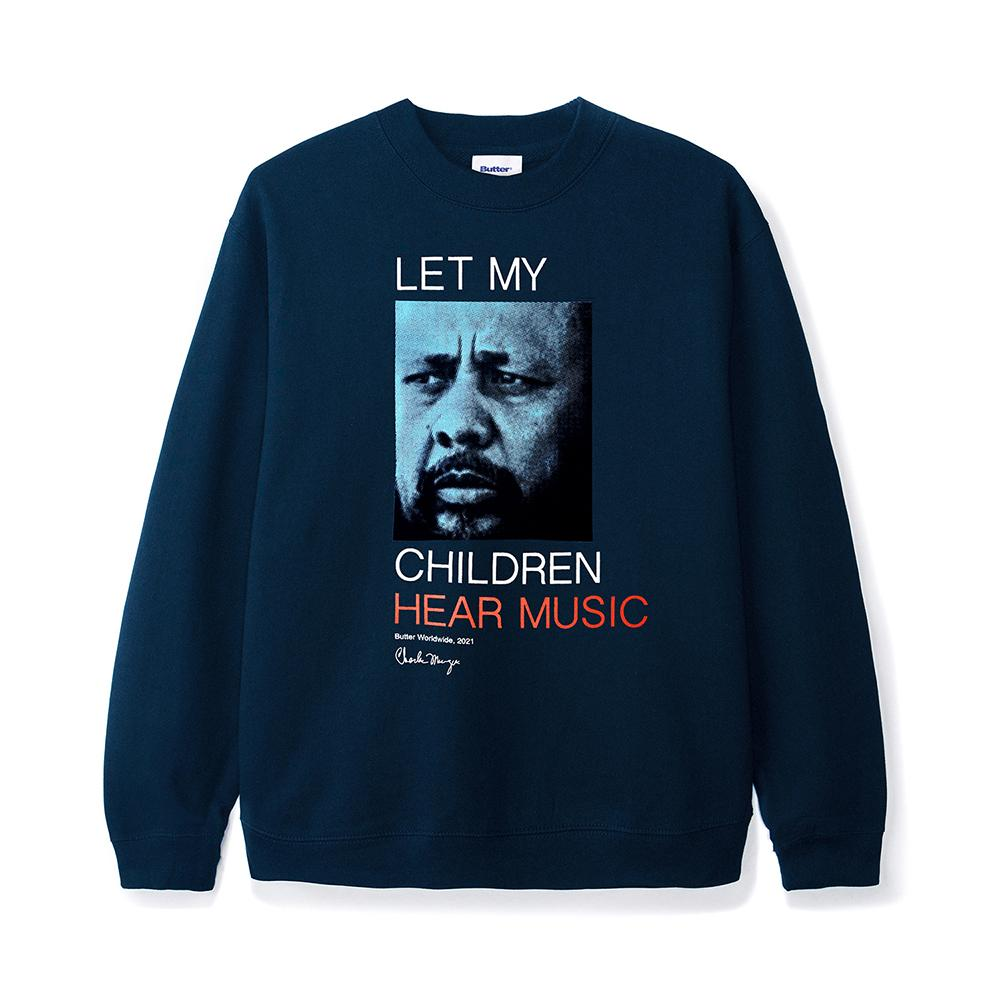 Let My Children Hear Music Crewneck, Navy