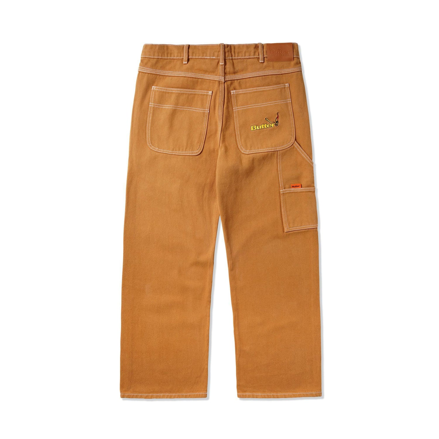 Overdye Denim Work Pants, Brown