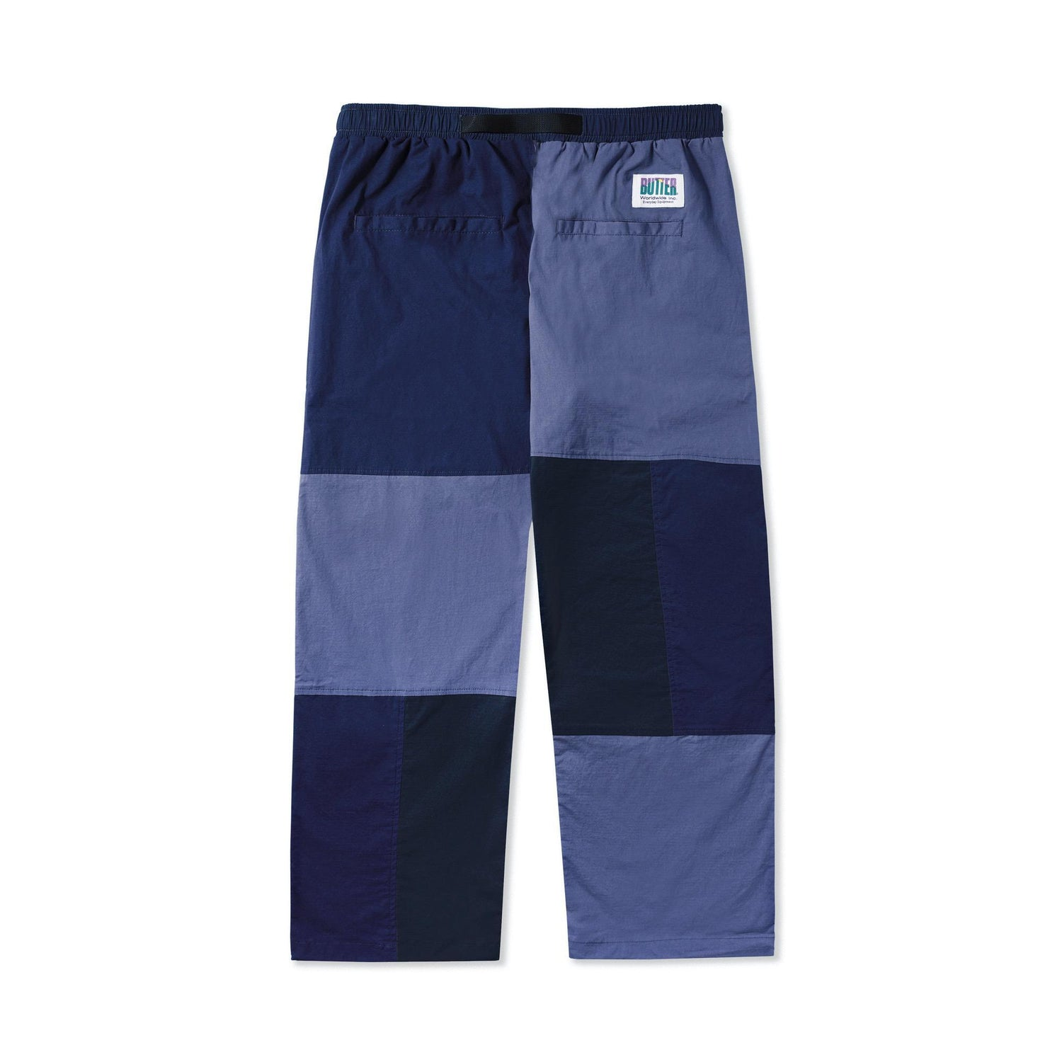 Patchwork Pants, Navy