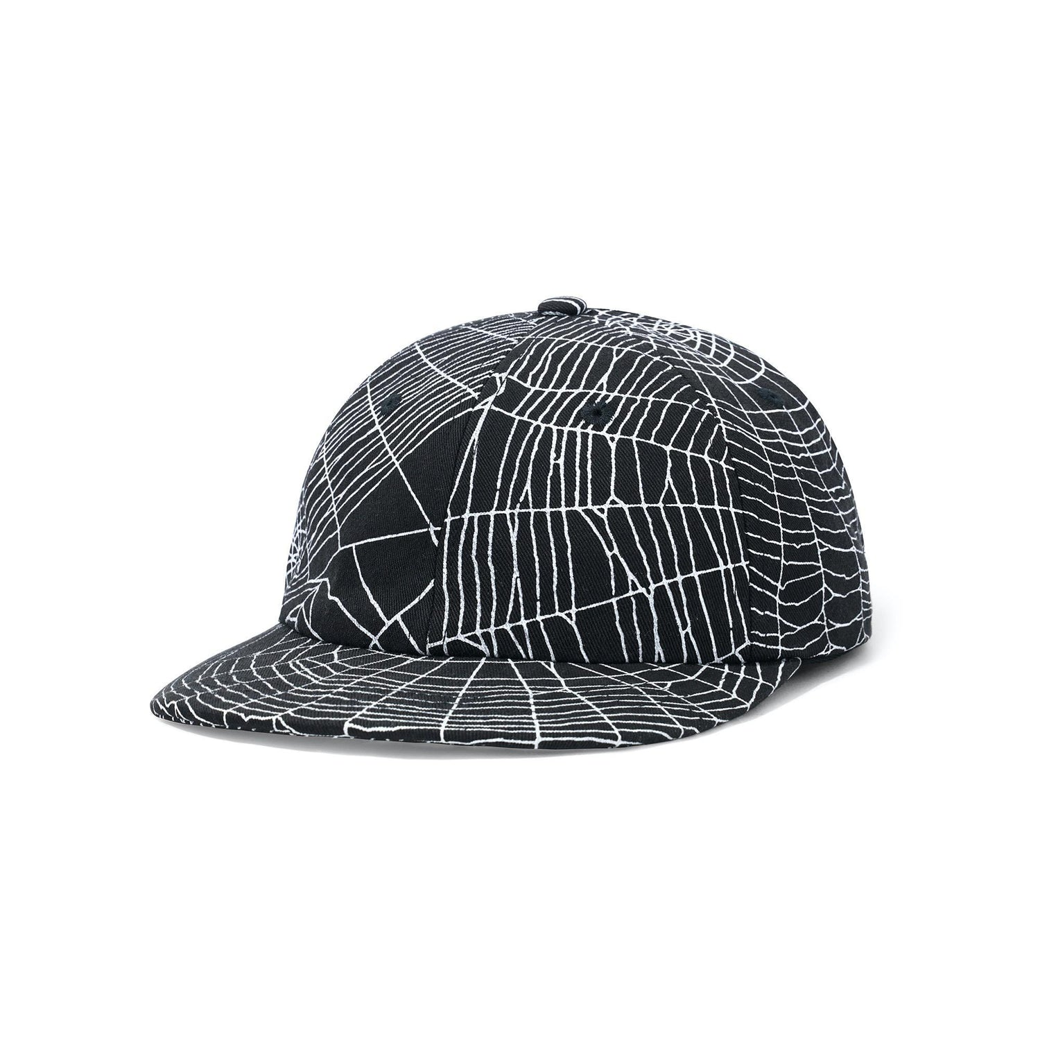 Web 6 Panel Cap, Black