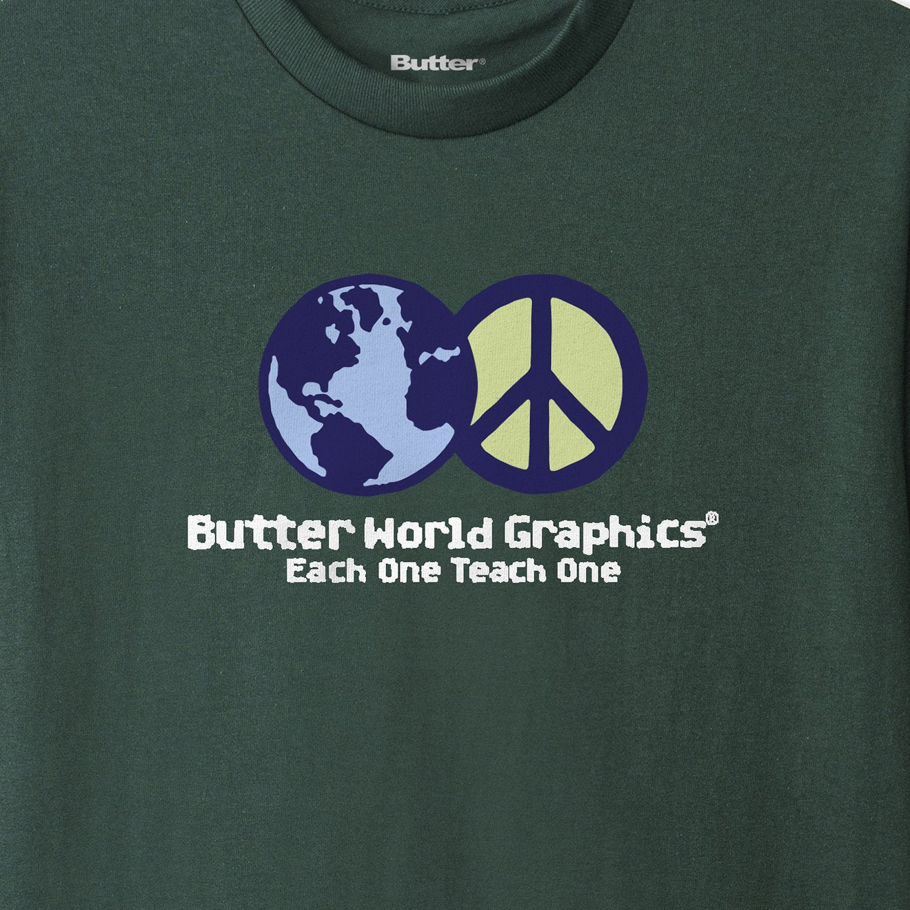 World Peace Tee, Forest Green