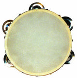 "ANGEL 6 1/2"" TAMBOURINE 5 X JINGLES CALF SKIN HEAD"