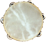 "ANGEL 8 1/2"" TAMBOURINE 6 x JINGLES CALF SKIN HEAD"