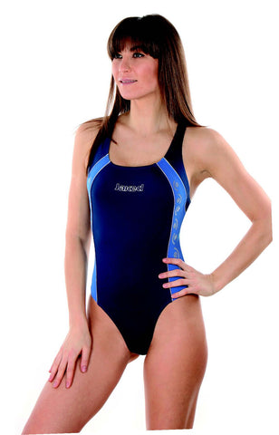 Women's Training One-Piece Domino Swimsuit, Jaked US Store