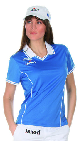 Women's Italia Short Sleeve Polo Shirt, Jaked US Store