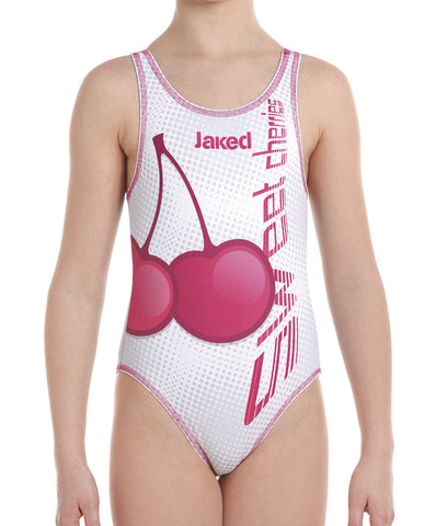 Girls Training One-Piece Cherries Swimsuit, Jaked US Store
