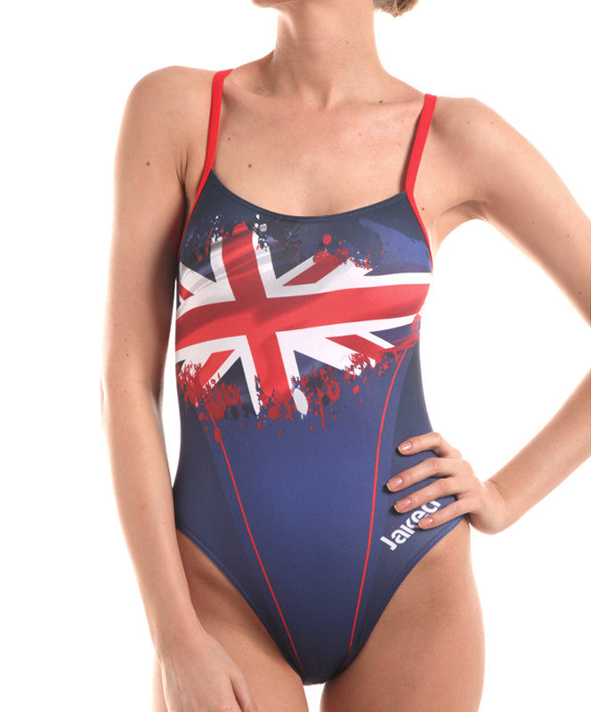 Women's Training One-Piece Flag UK Swimsuit, Jaked US Store