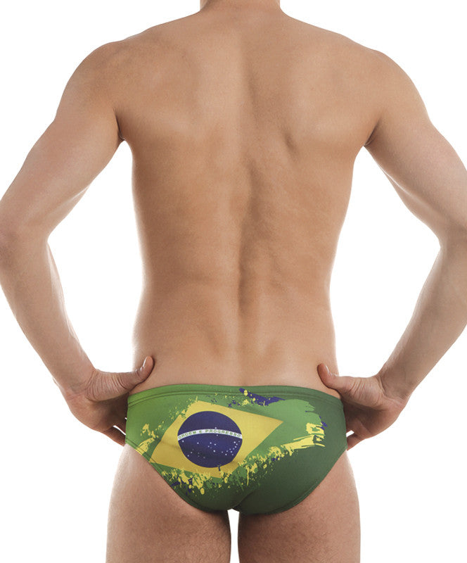 Boys Training Brief Brazil Flag Swimsuit, Jaked US Store