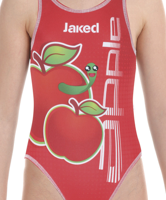Girls training One-Piece Apple Swimsuit, Jaked US Store