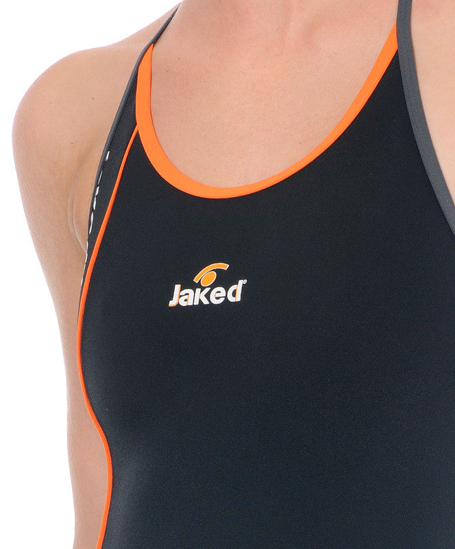 Women's Training One-Piece Side Swimsuit, Jaked US Store
