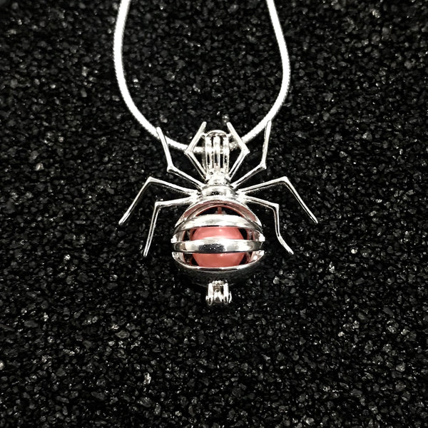 Sterling Silver Spider Pendant & Necklace