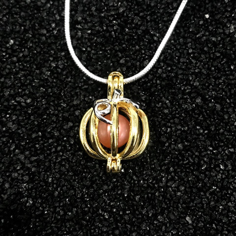 Sterling Silver Pumpkin Patch Pendant & Necklace