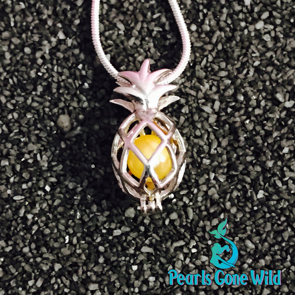 Sterling Silver Pineapple Pendant & Necklace
