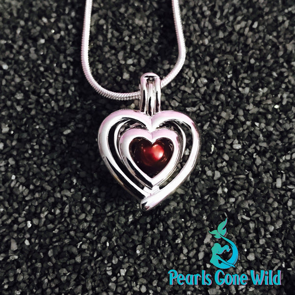 Sterling Silver Twin Heart Pendant & Necklace