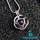Sterling Silver Rose Pendant & Necklace