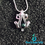 Sterling Silver Frog Pendant & Necklace