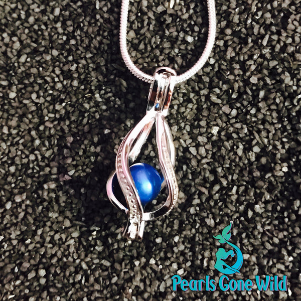 Sterling Silver Tear Drop Pendant & Necklace