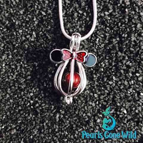 Sterling Silver Mouse Pendant & Necklace
