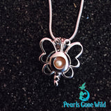 Sterling Silver Flutter Pendant & Necklace