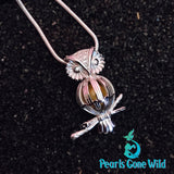 Sterling Silver Owl Pendant & Necklace