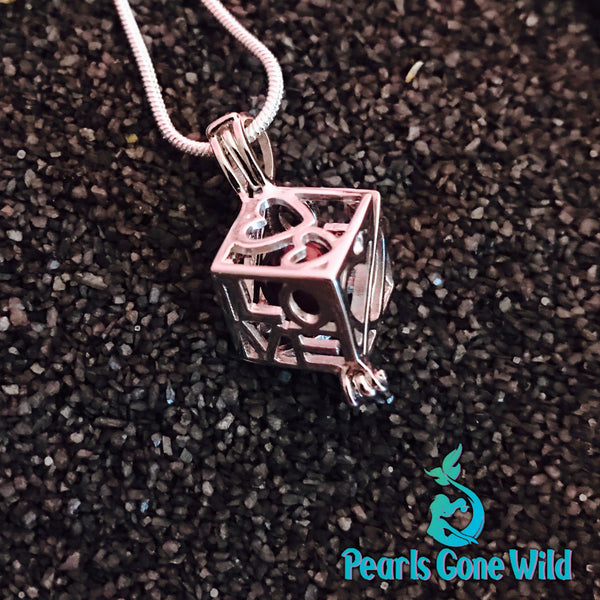 Sterling Silver Love Cube Pendant & Necklace