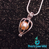 Sterling Silver Love Cage Pendant & Necklace