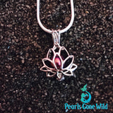 Sterling Silver Lotus Pendant & Necklace
