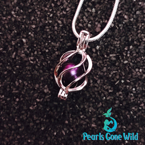 Sterling Silver Twisted Drop Pendant & Necklace