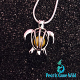 Sterling Silver Turtle Pendant & Necklace