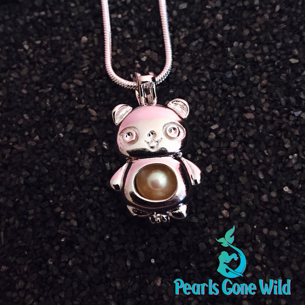 Sterling silver bear pendant necklace pearls gone wild sterling silver bear pendant necklace aloadofball Images