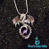 Sterling Silver Dragon Pendant & Necklace