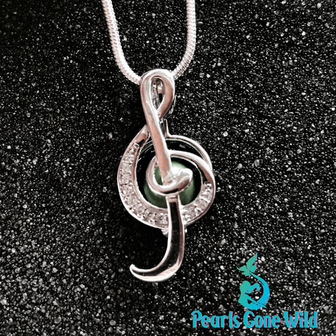 Sterling Silver Music Pendant & Necklace