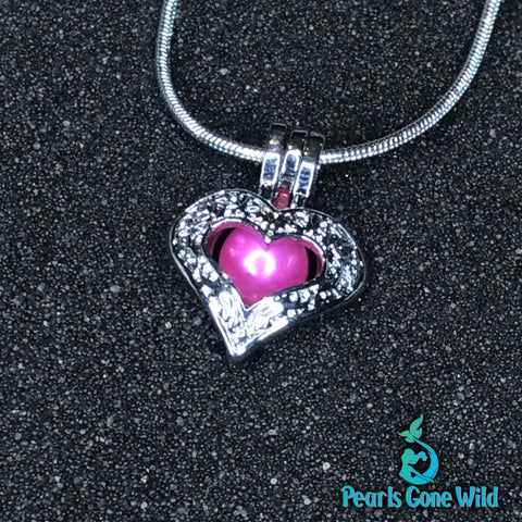 Cupid's Heart Pendant & Necklace