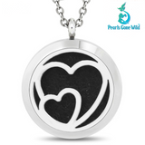 Double Heart Scent Pendant