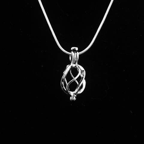 Twisted Drop Pendant & Necklace
