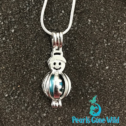 Snowman Pendant & Necklace