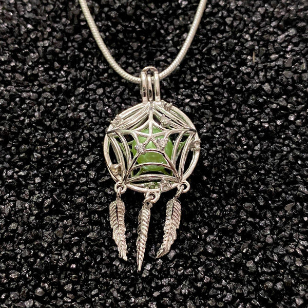 Sterling Silver Dream Catcher Pendant & Necklace
