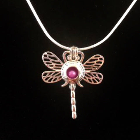 Sterling Silver Dragon Fly Pendant & Necklace