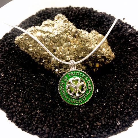 Sterling Silver St. Patrick's Pendant & Necklace